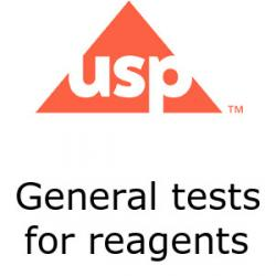 US Pharmacopoeia general tests for reagents