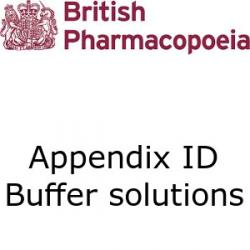 British Pharmacopoeia Appendix 1D buffer solutions