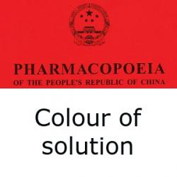 Chinese Pharmacopoeia colour of solution