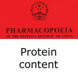 Chinese Pharmacopoeia determination of protein content
