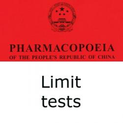 Chinese Pharmacopoeia limit tests