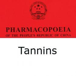 Chinese Pharmacopoeia tannins